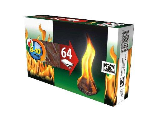 Ugnies įdegtukai HANSA 64 vnt.