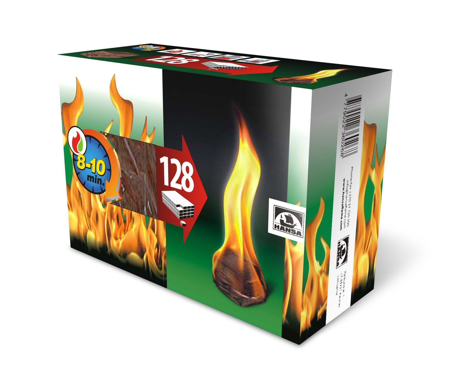 Ugnies įdegtukai HANSA 128 vnt.
