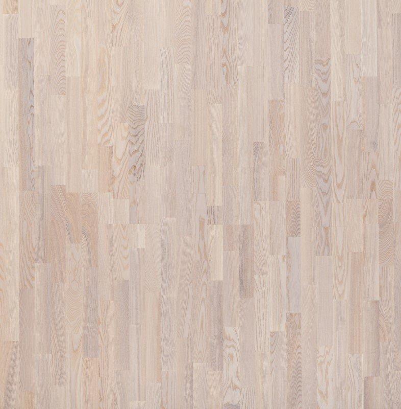 Parketlentė FOCUS FLOOR BLANCO TREND, 1116 x 188 x 14 mm, uosis, 3 juostos, baltas matinis lakas, Karelia-Upofloor