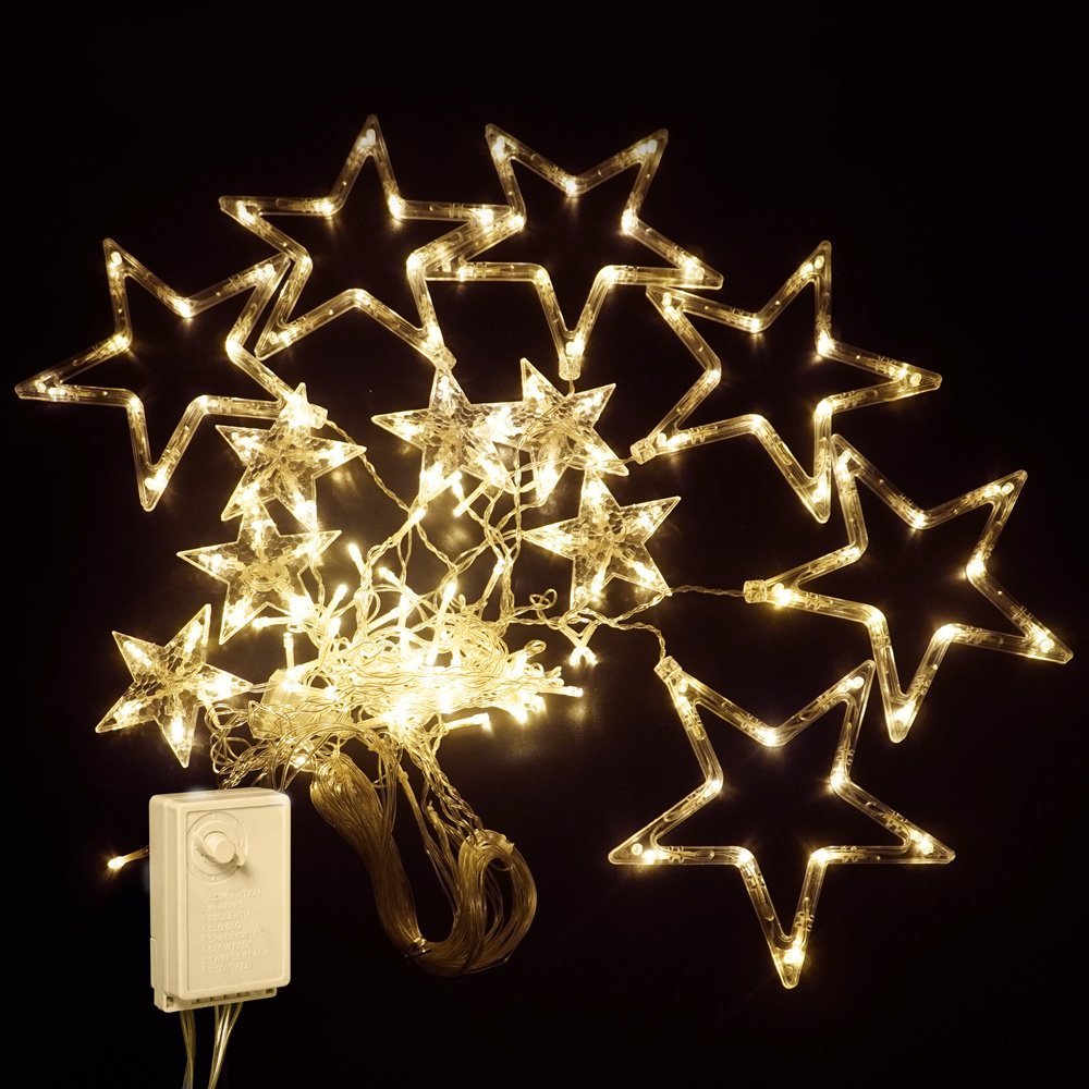 Šviečianti dekoracija žvaigždžių formos 136 LED A530820070