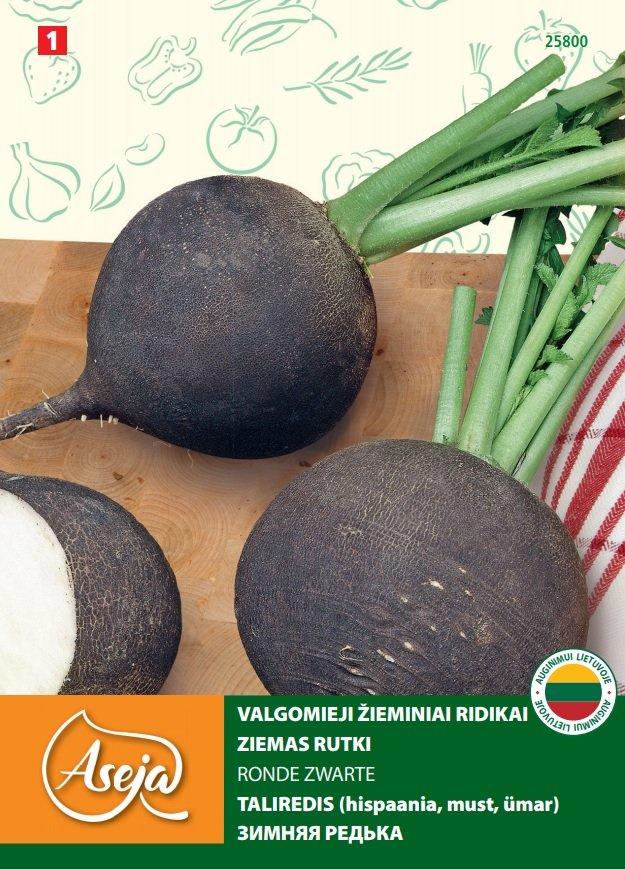 Sėklos daržovių, Žieminiai ridikai  ASEJA Ronde Zwarte 25800 ( 1 ), 3 g.