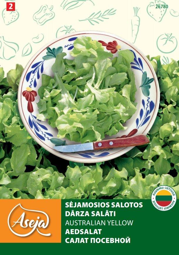 Sėklos, sėjamosios salotos  ASEJA Australian Yellow (A685160101), 2 g.