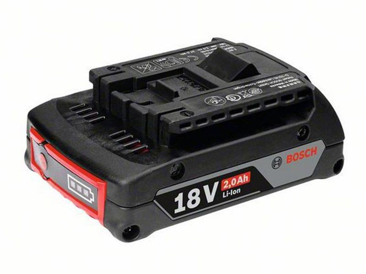 Akumuliatorius BOSCH GBA 18V 2.0Ah, akumuliatoriaus įtampa 18 V, akumuliatoriaus talpa 2 Ah