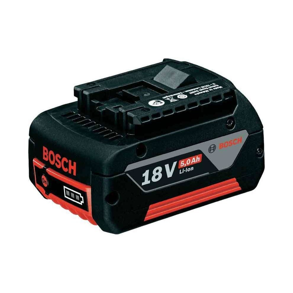 Akumuliatorius BOSCH GBA 18V 5.0Ah, akumuliatoriaus įtampa 18 V, akumuliatoriaus talpa 5 Ah