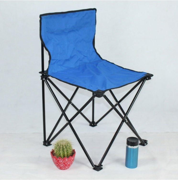 Sulankstoma turistinė kėdė  RF-FC01M, metalinė, mėlyna be rankų atramų 36x36x58cm