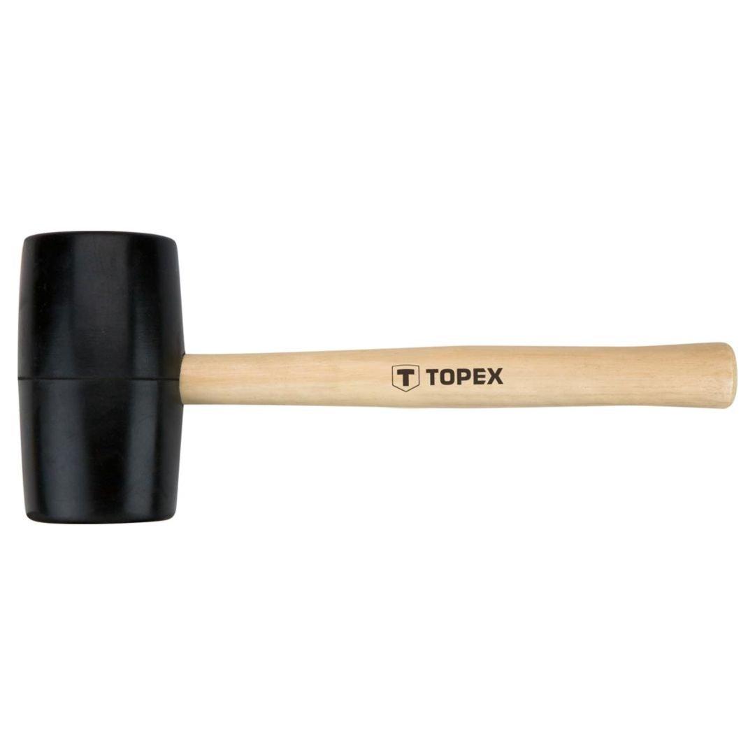 Guminis plaktukas medine rankena TOPEX 02A345 skersmuo 63 mm.