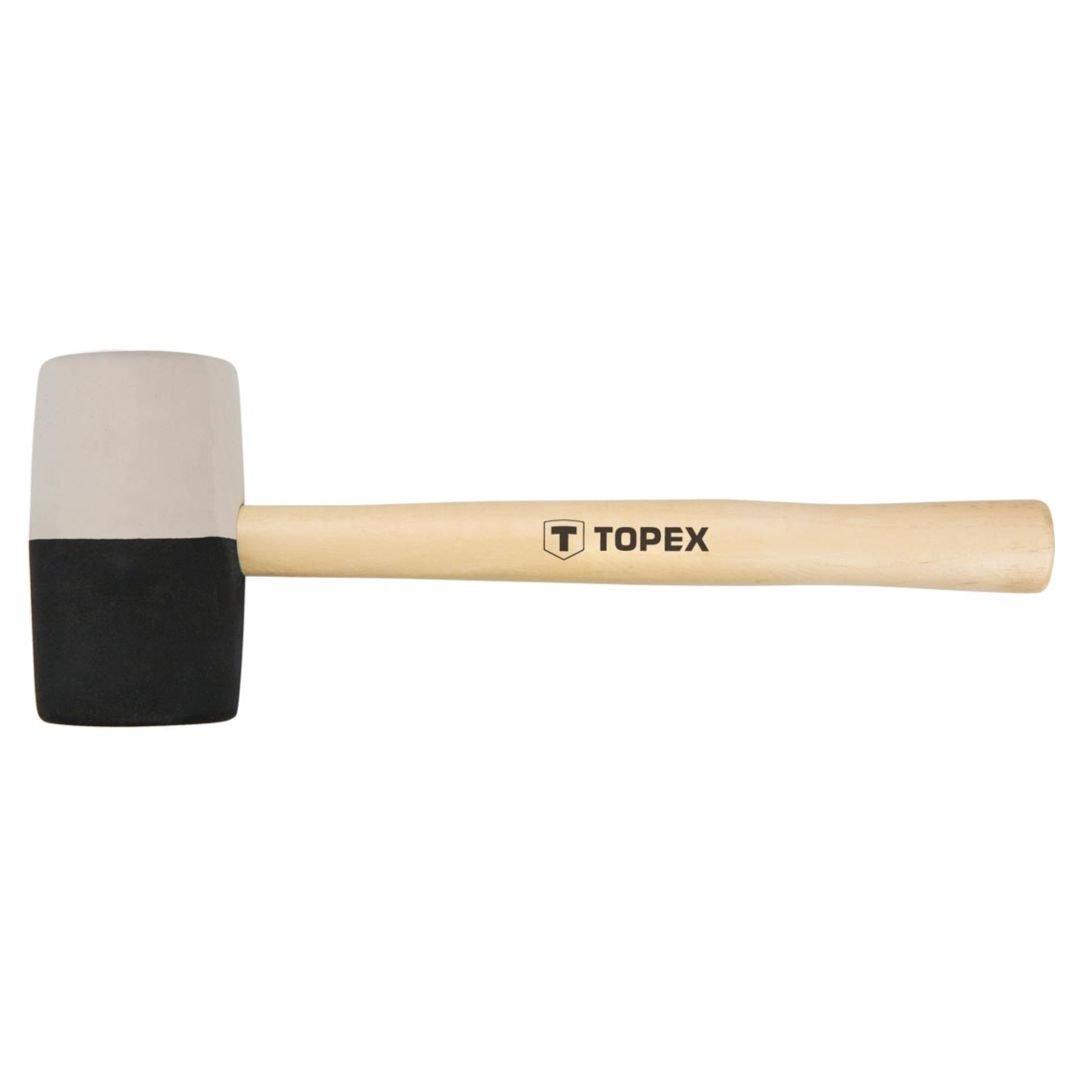 Guminis plaktukas medine rankena TOPEX 02A355 skersmuo 63 mm.