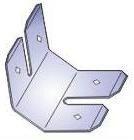 Tvirtinimo elementas  SF-1 CD tvirtinimo spyruoklė, strypų sujungimui