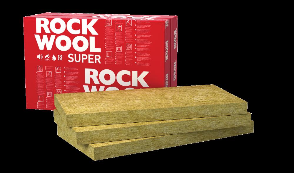 Akmens vata ROCKWOOL SUPERROCK Matmenys 50 x 565 x 1000 mm, 1 pak. - 0,424 m³,universalios vatos plokštės, 127424