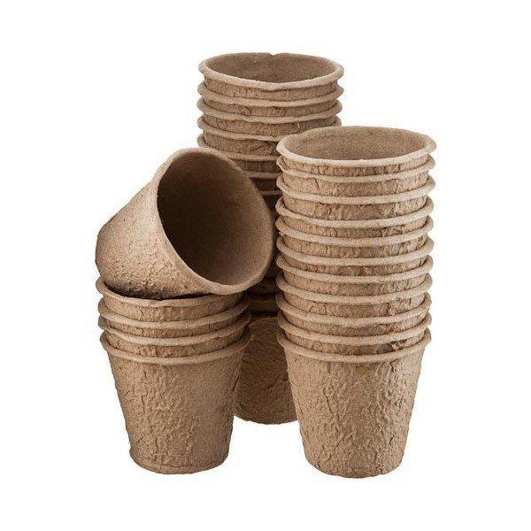 Apvalūs puodeliai daigams