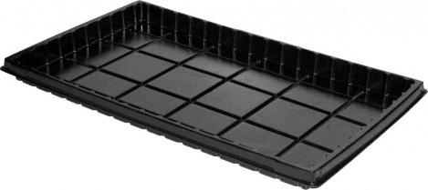 Plastikinis padėklas  PLH35 durpinėms daigykloms, 30 x 50 x 3,5 cm