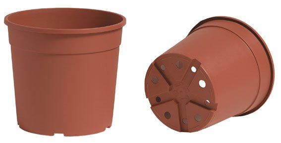 Plastikinis vazonas  CONTINER IME 21 cm, rudas.