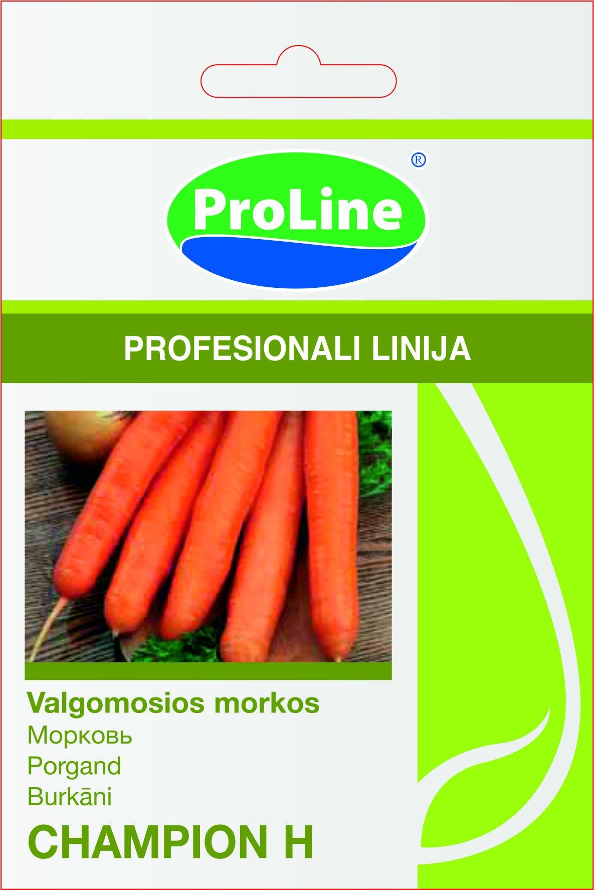 Sėklos daržovių, morkos  CHAMPION H (02-07 mėn).