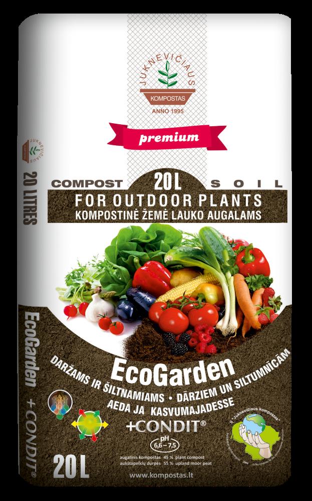 Kompostas ecoGarden daržams su CONDIT trąšomis   20 l.