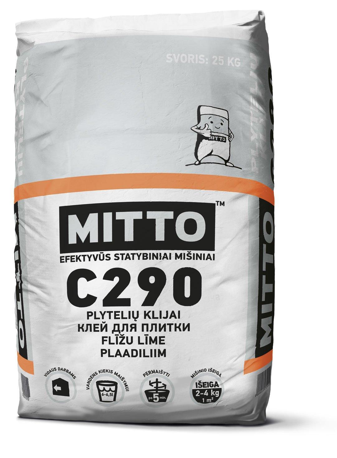 Klijai plytelėms keraminėms MITTO C290, 25 kg