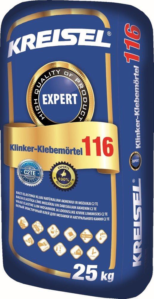 Klijai plytelėms KREISEL Expert Klinker Klebemortel 116