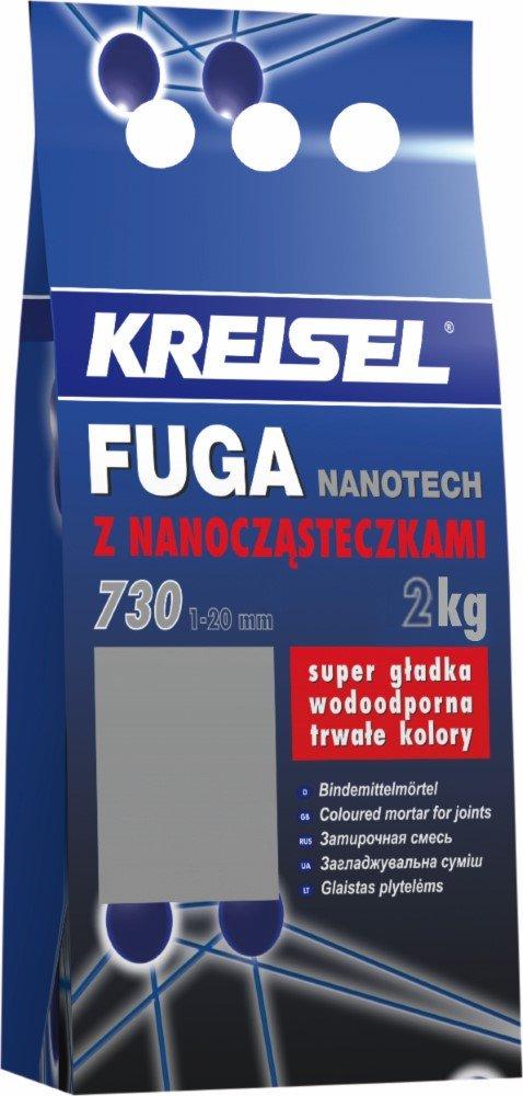 Plytelių tarpų glaistas KREISEL Fuga Nanotech 730, 2 kg Šviesiai ruda 12/14A