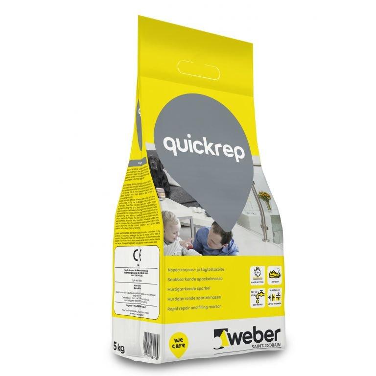 Remontinis mišinys, WEBER QuickRep sl C30-F7, sluoksnis 0-30 mm ,greitai stingstantis , 5kg