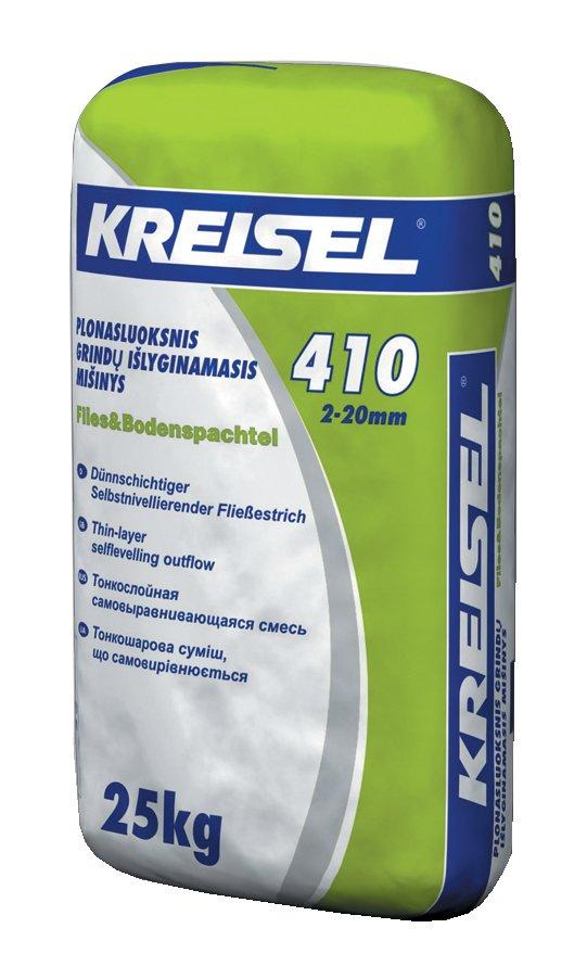 Savaime išsilyginantis mišinys KREISEL Fliess & Bodenspachtel 410, 25 kg Storis 2-20 mm