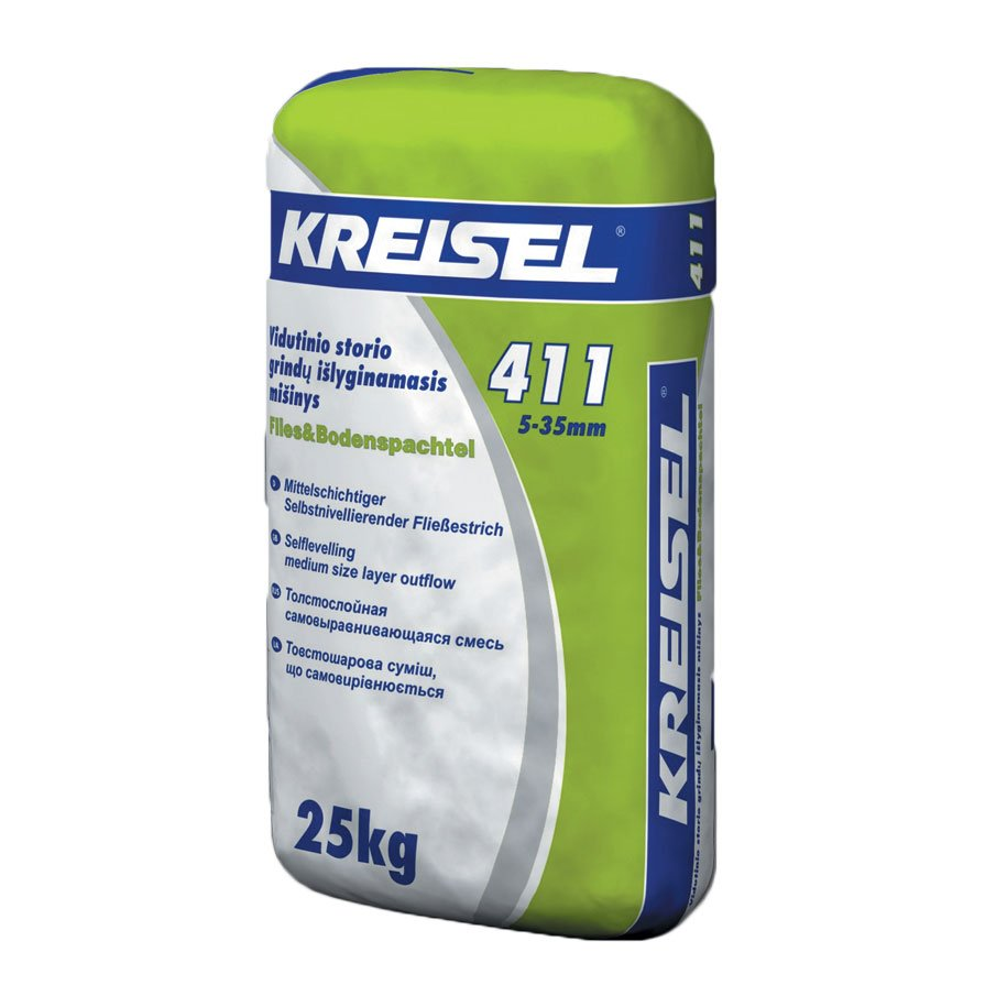 Savaime išsilyginantis mišinys KREISEL Fliess & Bodenspachtel 411, 25 kg Storis 5-35 mm