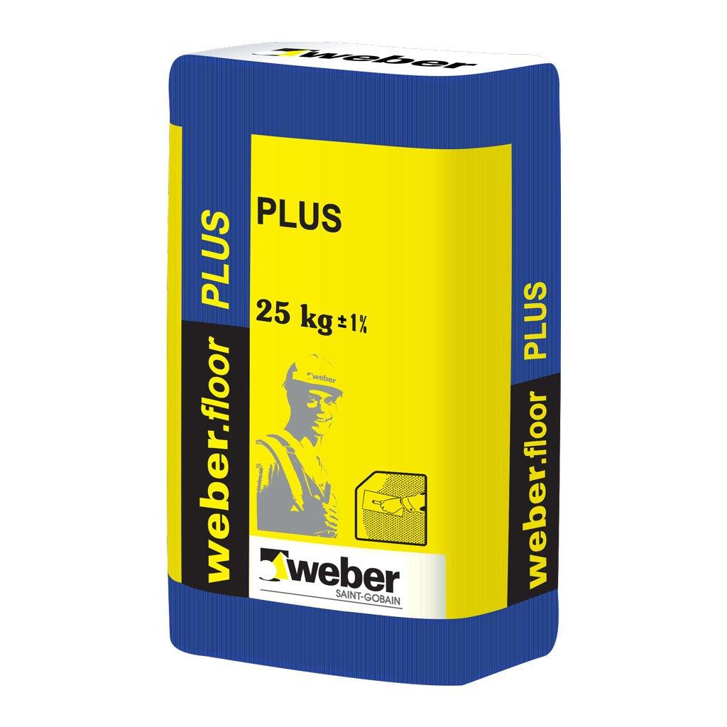 Savaime išsilyginantis grindų mišinys WEBER.FLOOR PLUS, storis 2- 30 mm, 25 kg