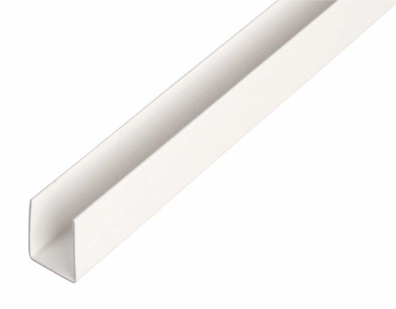 Plastikinis profilis U formos Matmenys 1 x 10 x 10 x 21 x 1000 mm, 484538