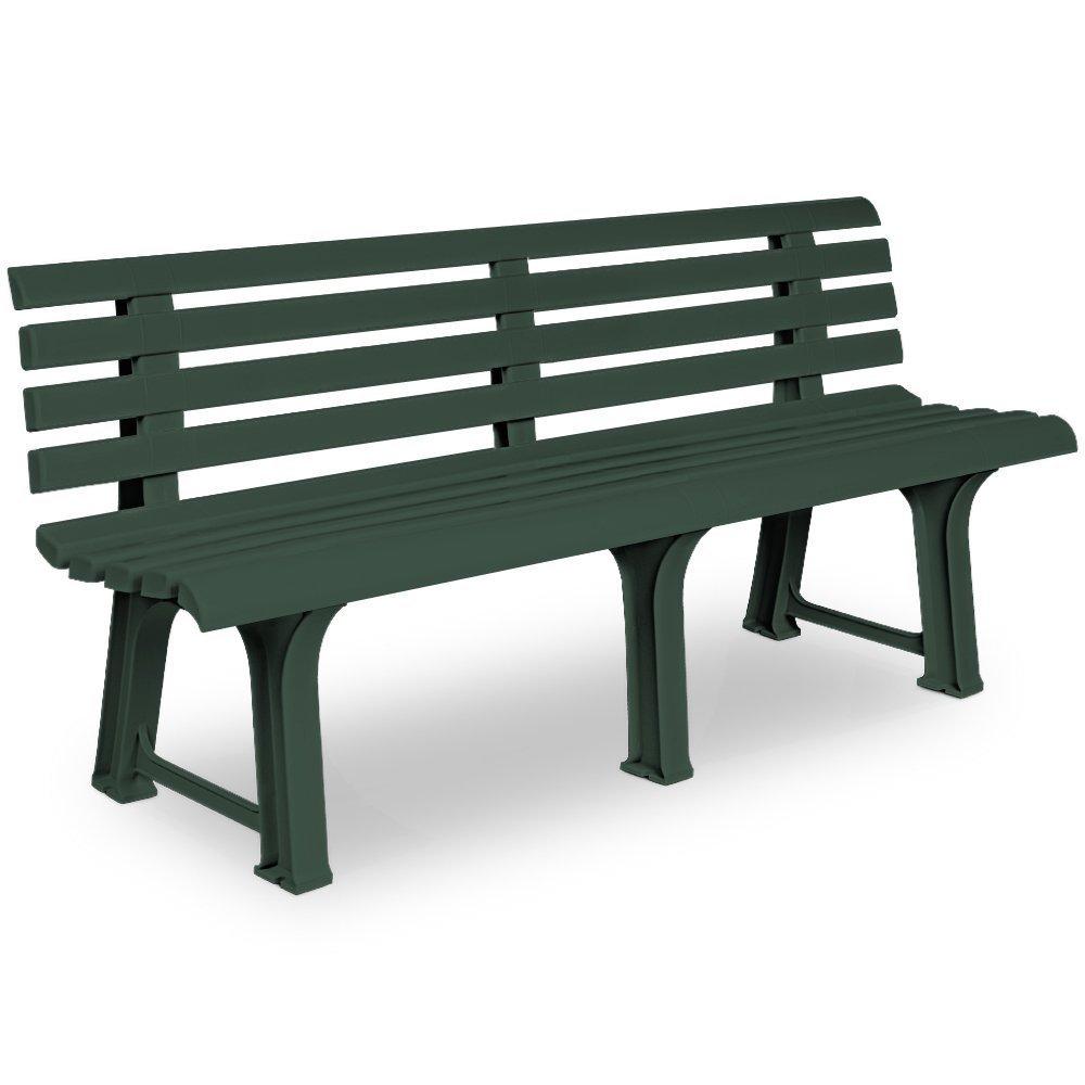 Plastikinis sodo suolas ORCHIDEA žalios spalvos 145cm, maks. apkrova iki 120kg per viena sėdima vietą