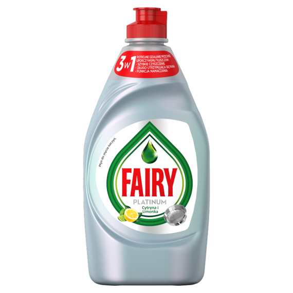 Indų ploviklis FAIRY Platinum Lemon & Lime, 450 ml