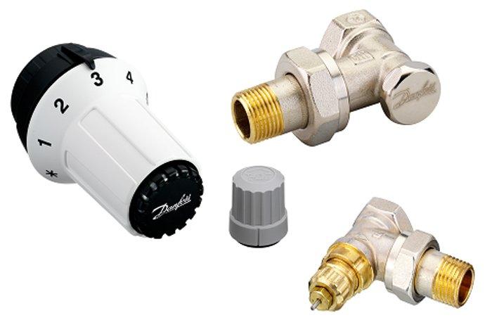 Radiatorių termostatų komplektas, kampinis DANFOSS  RAS-C, 5023 + RA-FN vent. +RLV-S vent., 013G5253