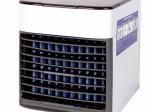 Oro vėsintuvas su USB jungtimi ir filtru, 3greičiai,7LED spalvos, 650ml.vandens talpa,5V2A.Matmenys 14,5x16,7x16cm., balta/pilka sp.