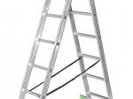 Universalios aliumininės kopėčios HERVIN TOOLS (AC0209A) 2x9 pakopų, 242-424 cm.