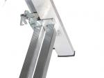Universalios aliumininės dvipusės kopėčios HERVIN TOOLS (AC0310A) 3x10 pakopų, 268-676 cm.