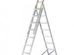 Universalios aliumininės dvipusės kopėčios HERVIN TOOLS (AC0311A) 3x11 pakopų, 294-704 cm
