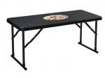 Lauko baldų komplektas NOVELLY HOME, stalas: 99.50*43.50*47.5 kėdė:50*42.5*81  medž. plastikas + plienas,  rudos sp., RAK-100+YC-042 , apkrova iki stalas 80 kg., kėdė 120 kg.